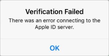 Fixed] There was an error connecting to the Apple ID server