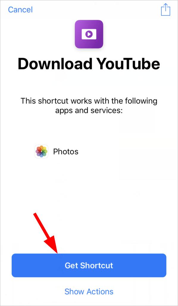 safari video download shortcut