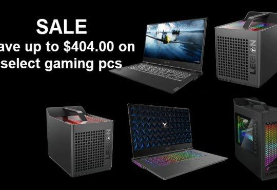 Save up to $404 on select gaming pcs