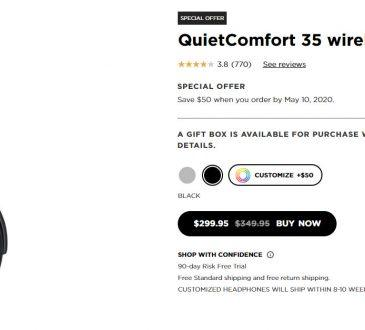 QuietComfort 35 wireless headphones II official site deal