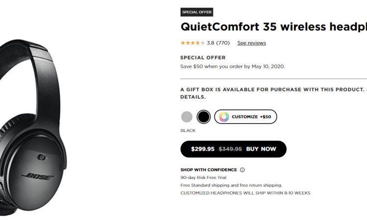 QuietComfort 35 wireless headphones II official site deal