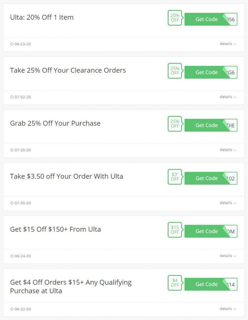 40 Off Ulta Coupons And Deals Novmber 2020 Super Easy