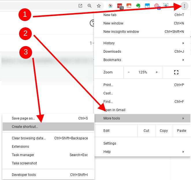 Save web app as a shortcut