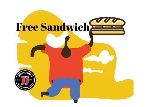 Jimmy John's free sandwich