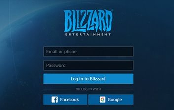 log in to your Battle.net account