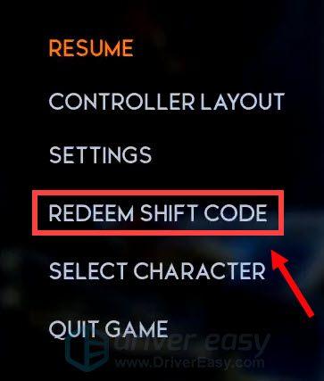 redeem Shift code Godfall