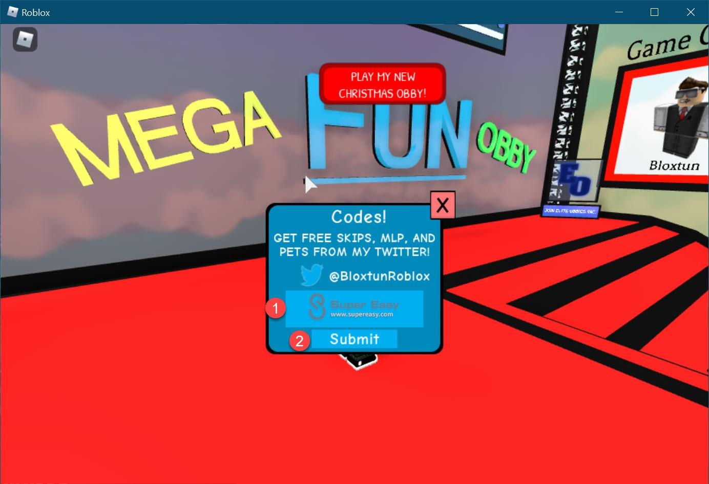 Redeem Latest Roblox Mega Fun Obby codes 1