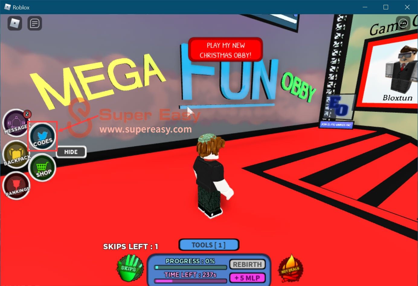 Redeem Latest Roblox Mega Fun Obby codes