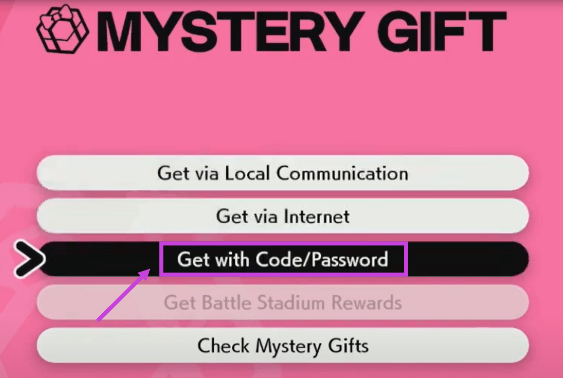 redeem Mystery Gift codes