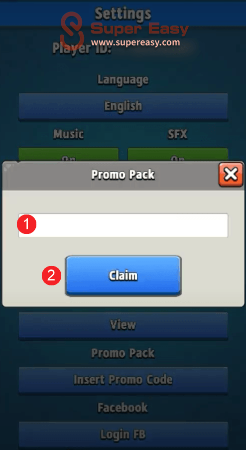 how to redeem a promo code in Archero