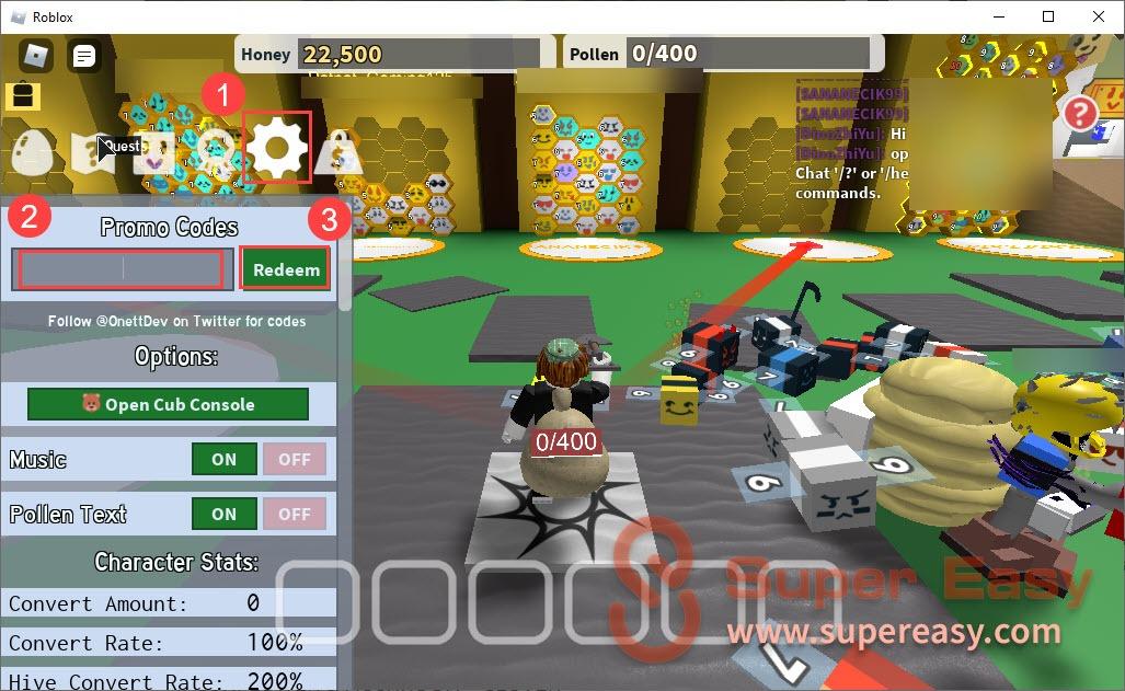 redeem codes for Bee Swarm Simulator