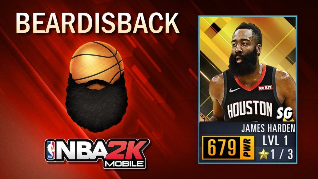 NBA 2K Mobile James Harden code