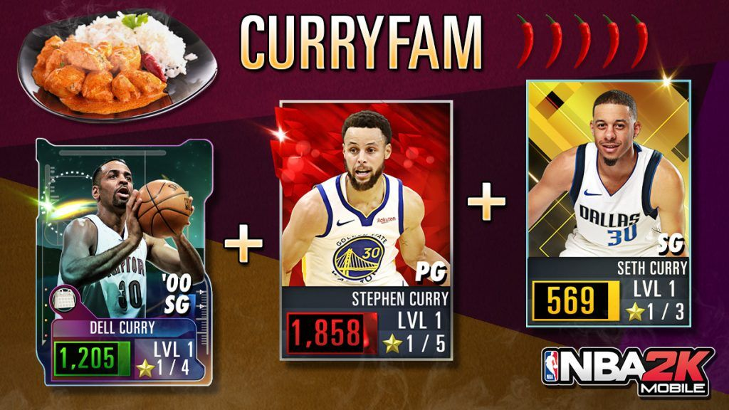 NBA 2K Mobile Curry Family code