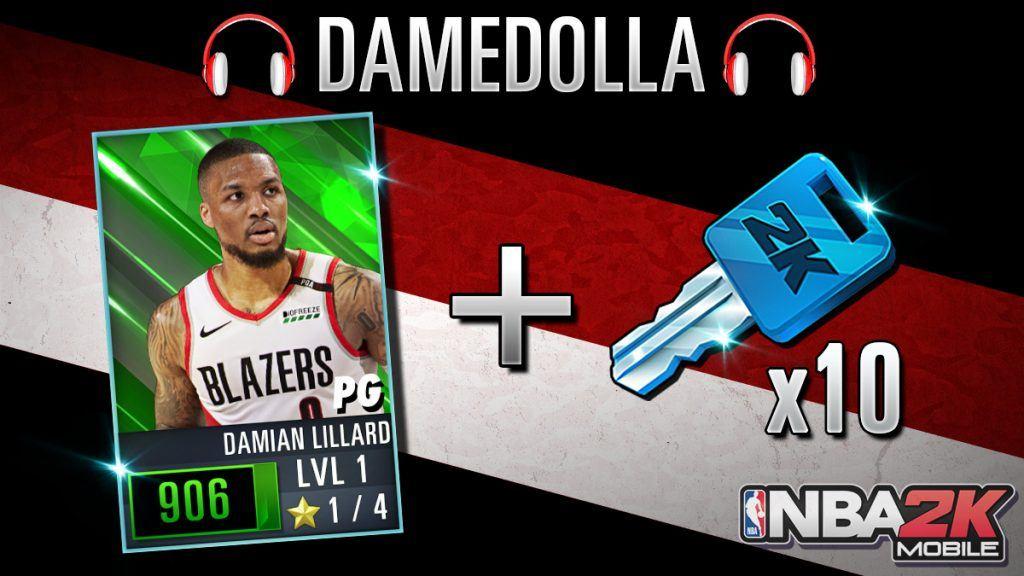 NBA 2K Mobile Damian Lillard code