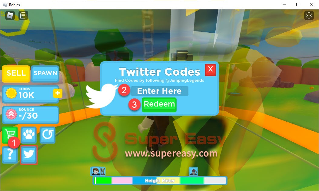 How to redeem Jumping Legends codes