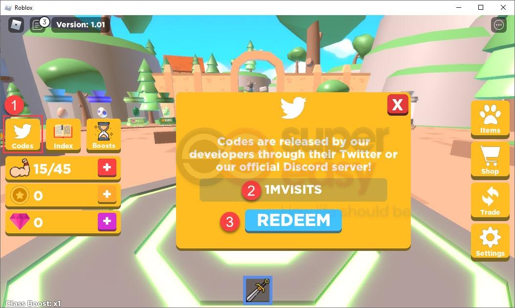 How to redeem latest Adventurer Simulator codes