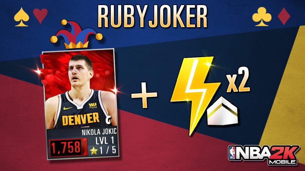NBA 2K Mobile Ruby Nikola Jokic code