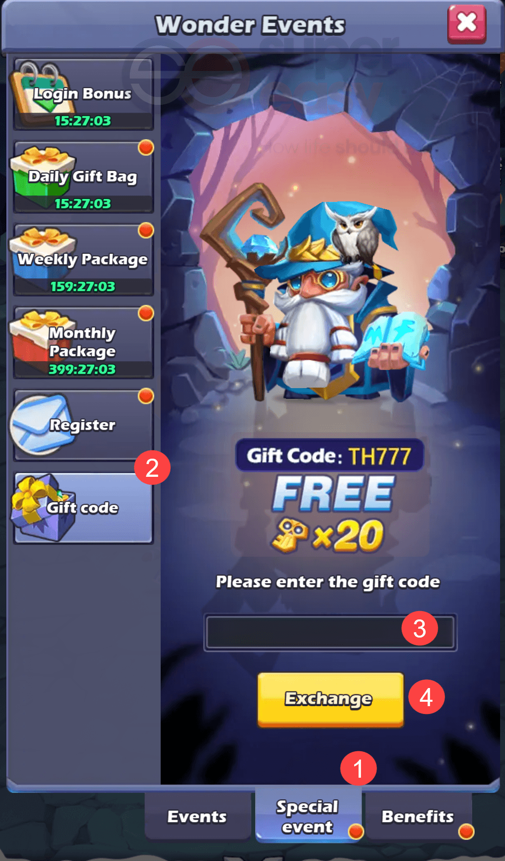 how to redeem a code in Taptap Heroes