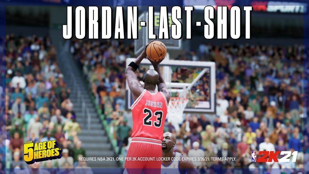 NBA 2K21 Locker Code JORDAN-LAST-SHOT