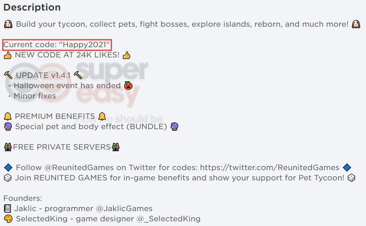Pet Tycoon game description