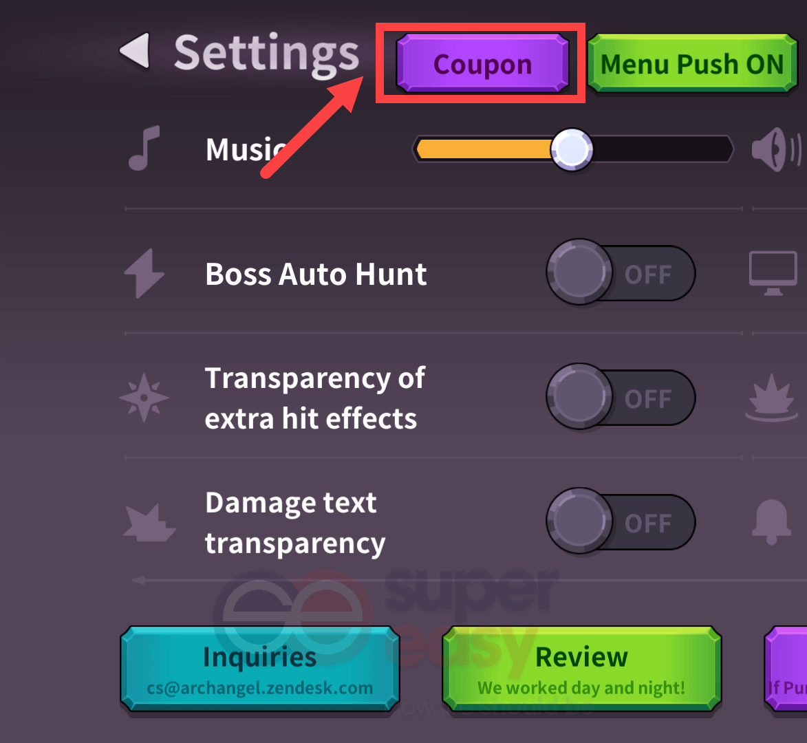 how to redeem a coupon in Raising Archangel