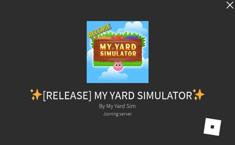 My Yard Simulator latest codes