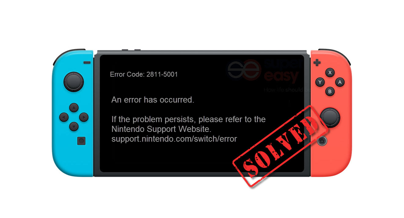 How to fix Nintendo Switch error code: 2811-5001