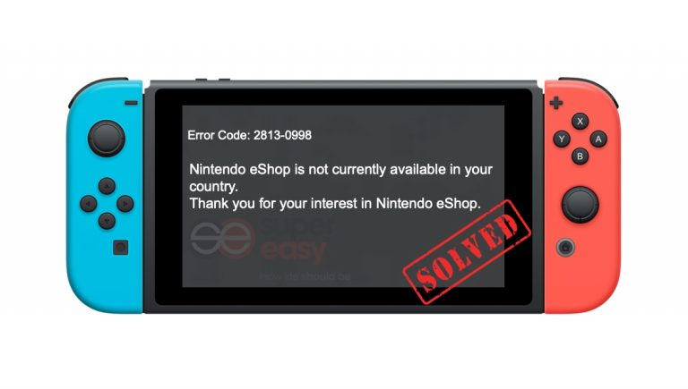 Nintendo eShop not available in your country