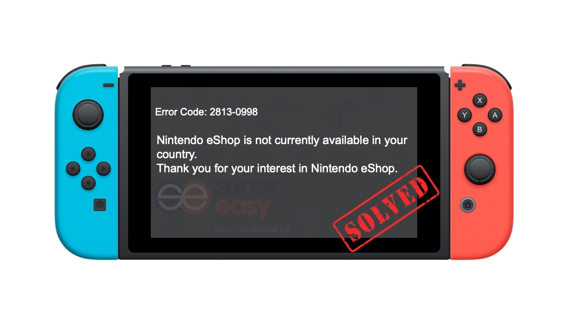 [SOLVED] Nintendo eShop not available in your country
