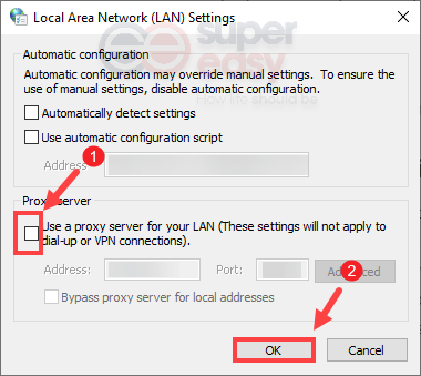disable proxy settings fix Steam needs to be online to update