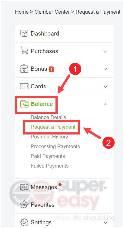 how to request a payment Extrabux