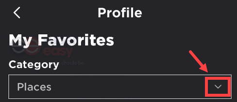 how to find favorites on Roblox mobile