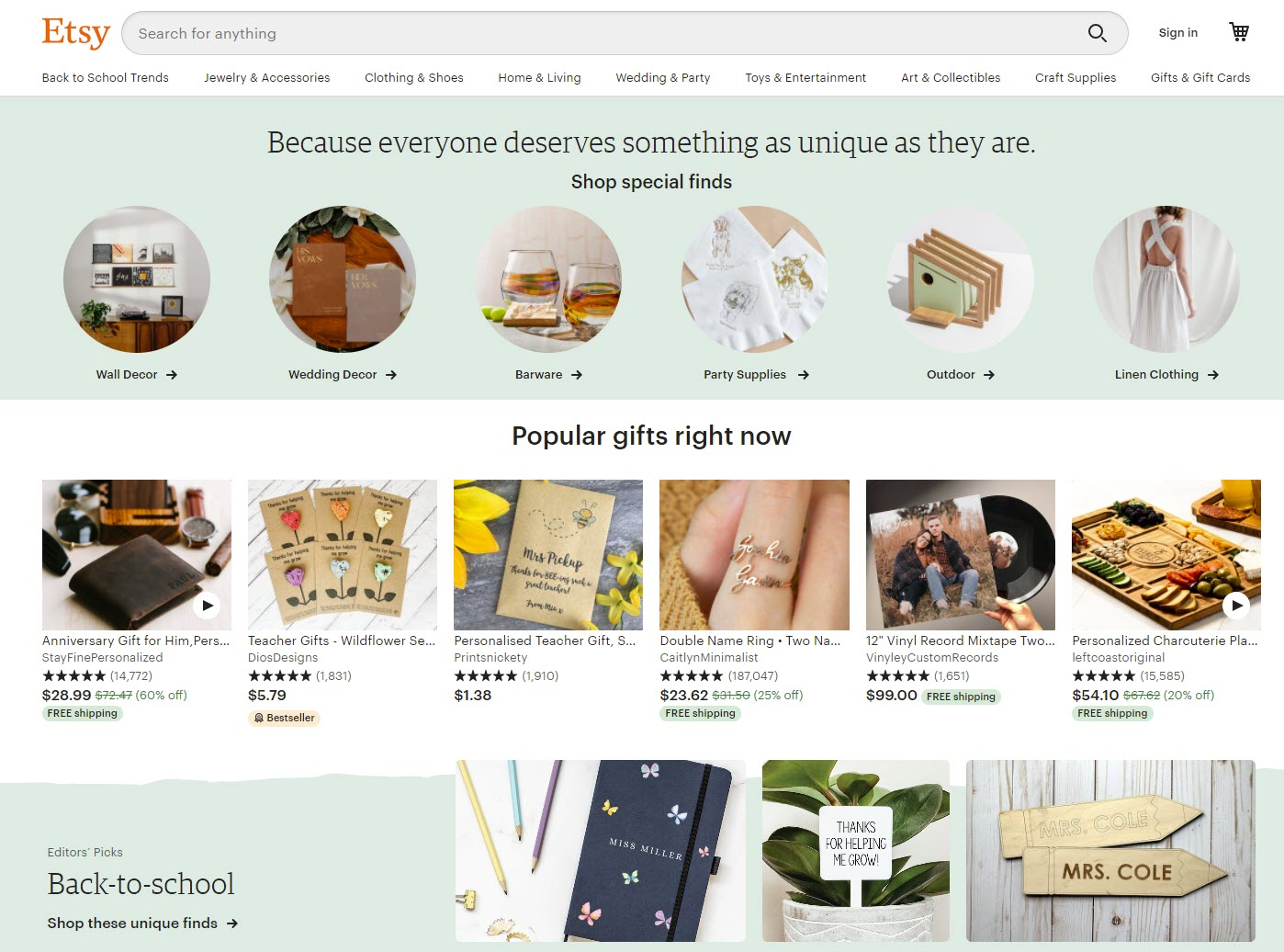 Etsy Coupon Codes and Gift Cards - September 2021