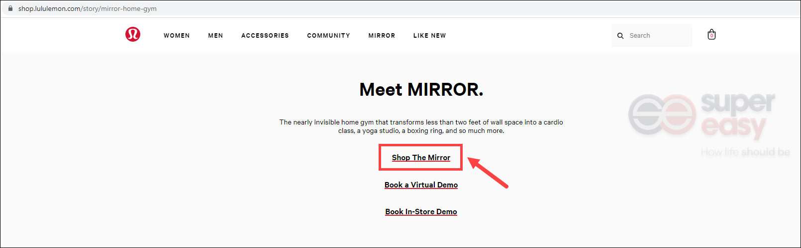 how to redeem a promo code for the mirror Lululemon