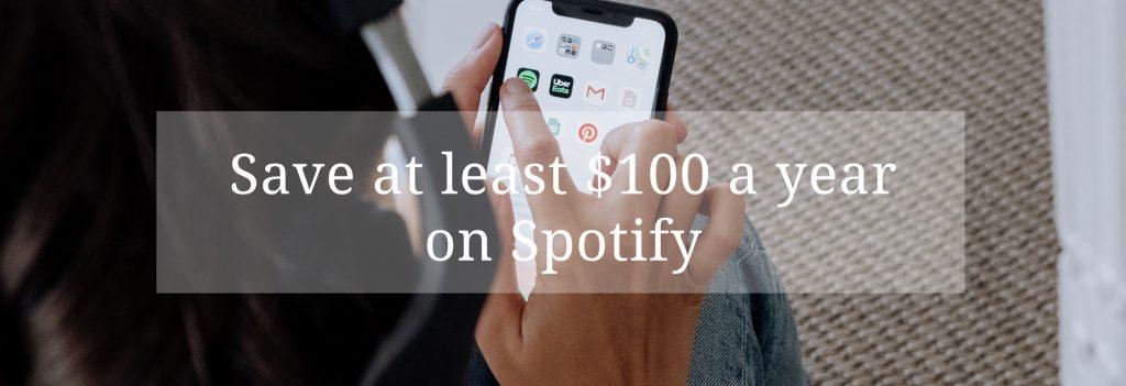 save money on spotify