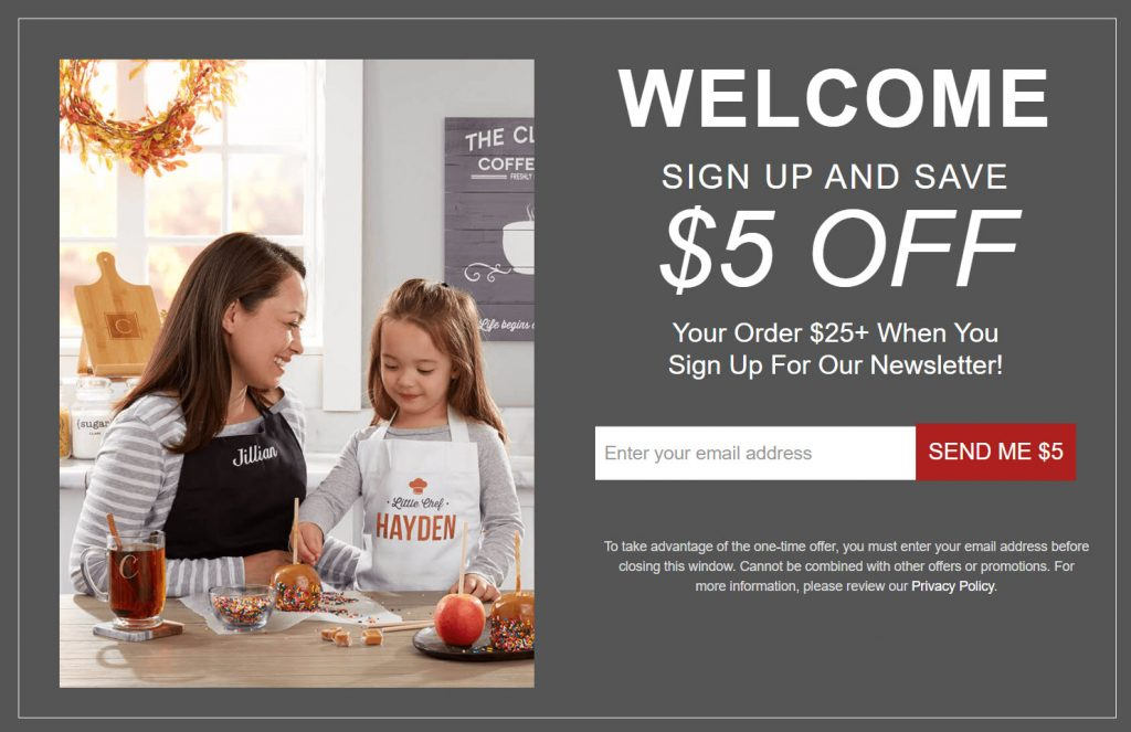 Personalization Mall Sign Up and Save $5