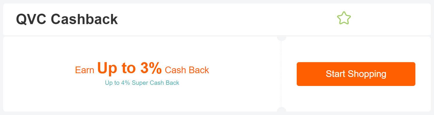 QVC cashback at Extrabux