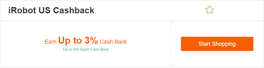 iRobot Extrabux cash back
