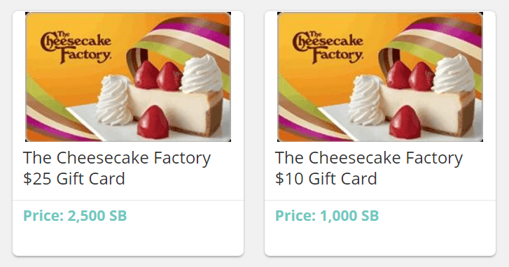 The Cheesecake Factory Gift Card for free