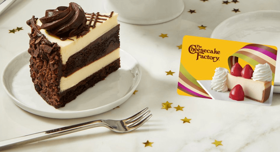The Cheesecake Factory coupon code and gift card free